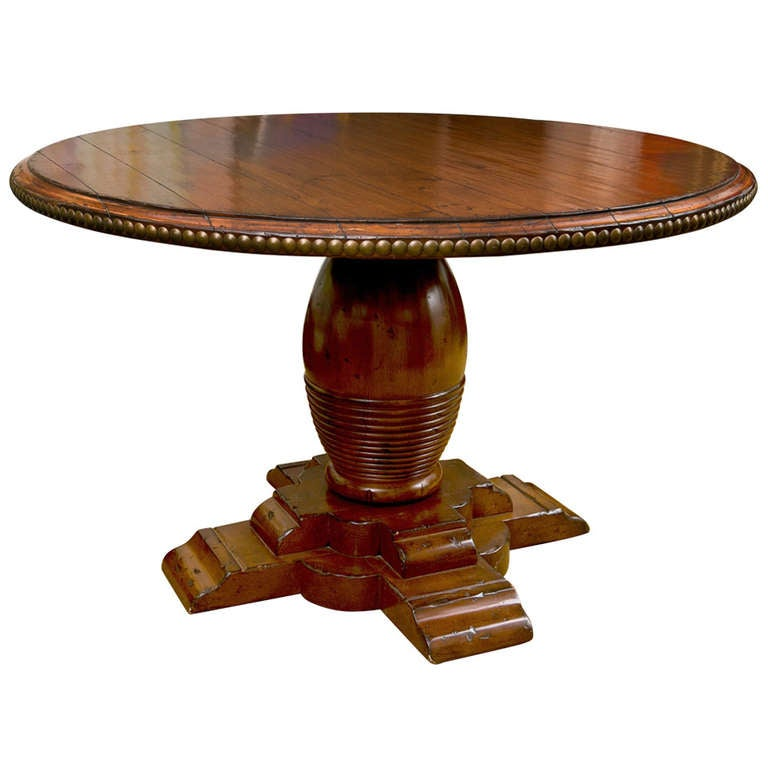 Vintage British Colonial Style Table At 1stdibs