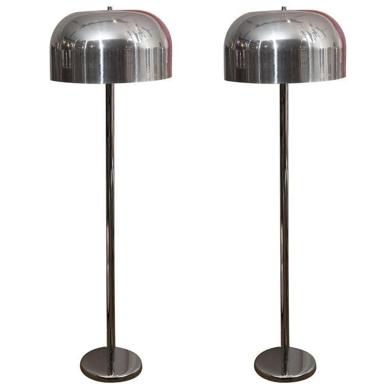Pair of Mushroom Floor Lamps For Sale