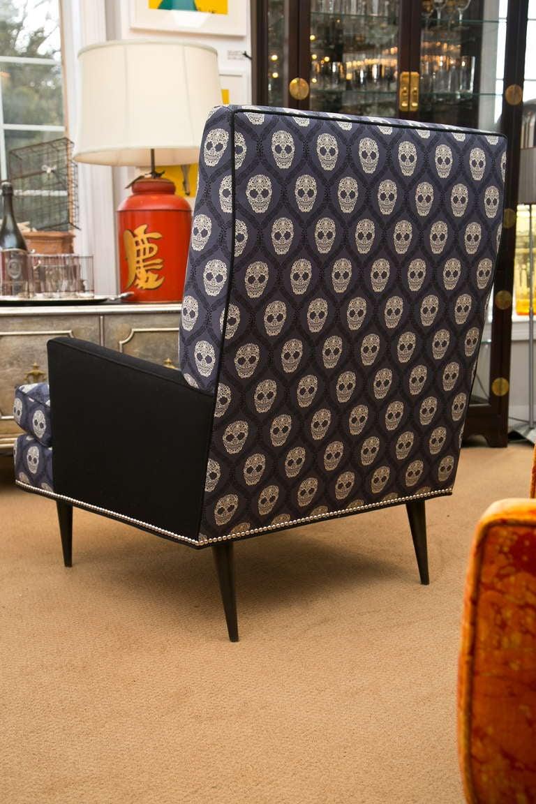 Mid-Century Skull Fabric Chair 4