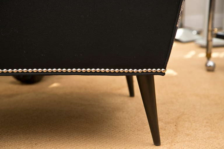 Mid-Century Skull Fabric Chair 6