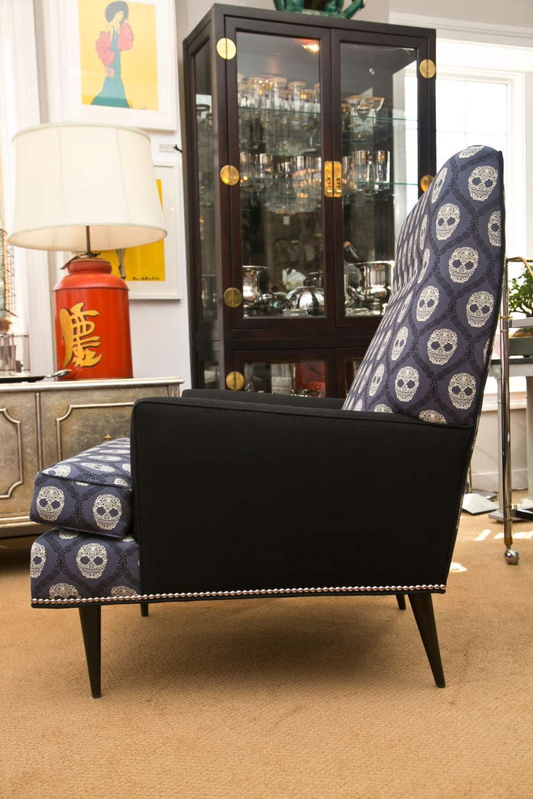 Mid-Century Skull Fabric Chair 3