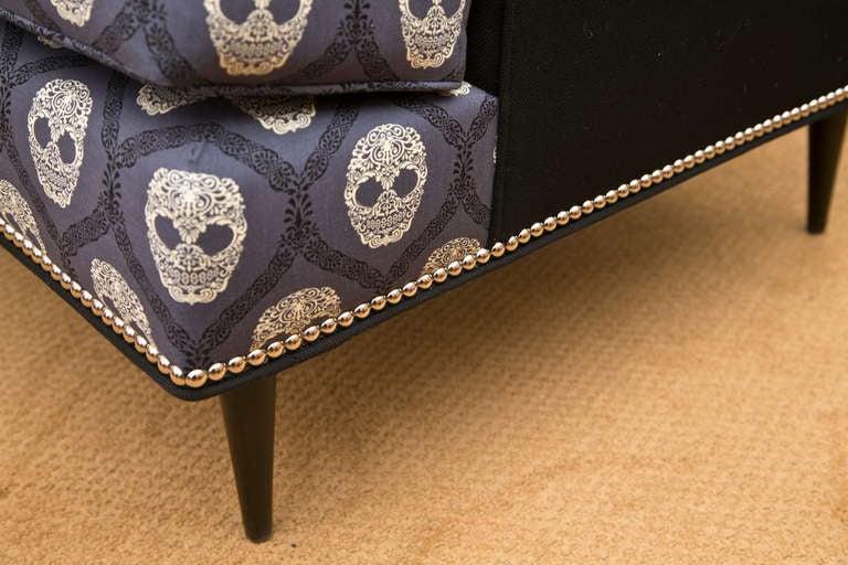 Mid-Century Skull Fabric Chair 7