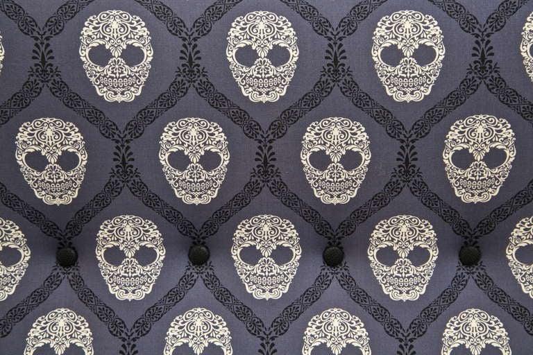 Mid-Century Skull Fabric Chair 9
