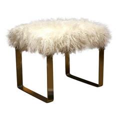 Mongolian Lamb Vanity Stools