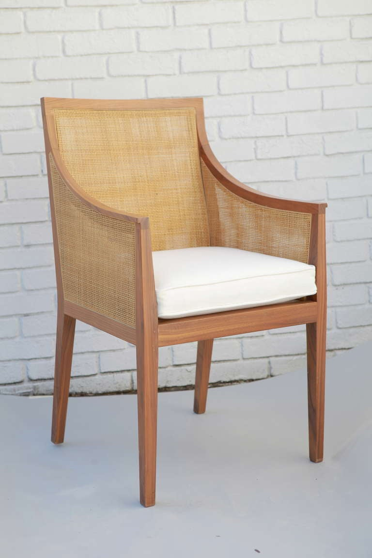 Vintage Flexform Cane Chair At 1stdibs