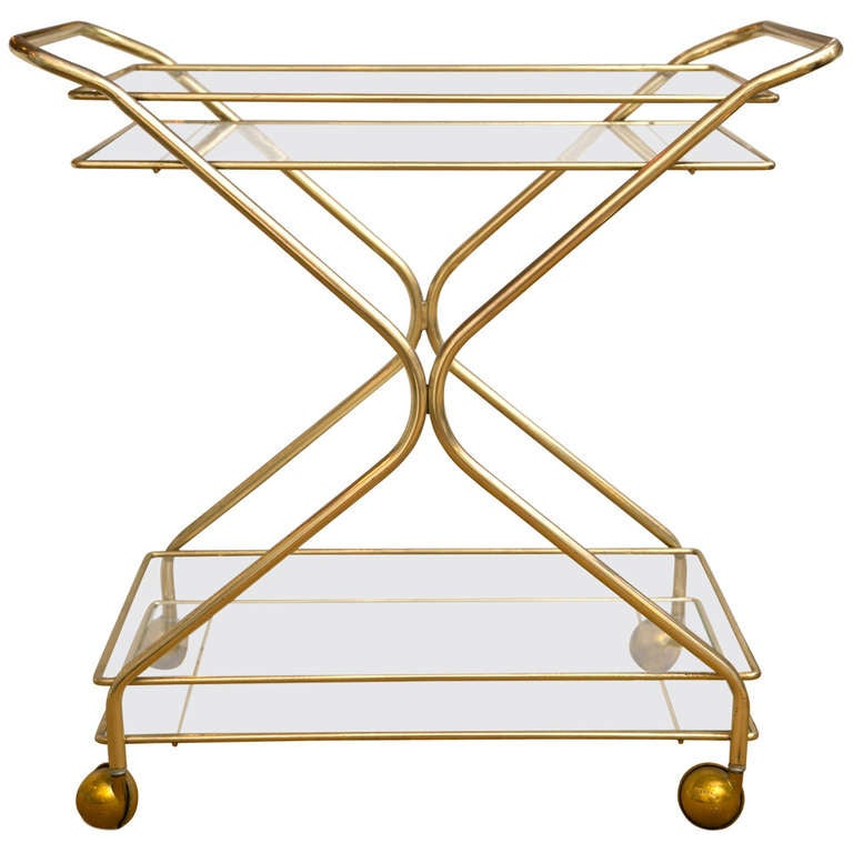 1960's Mid-Century Bar Cart 1