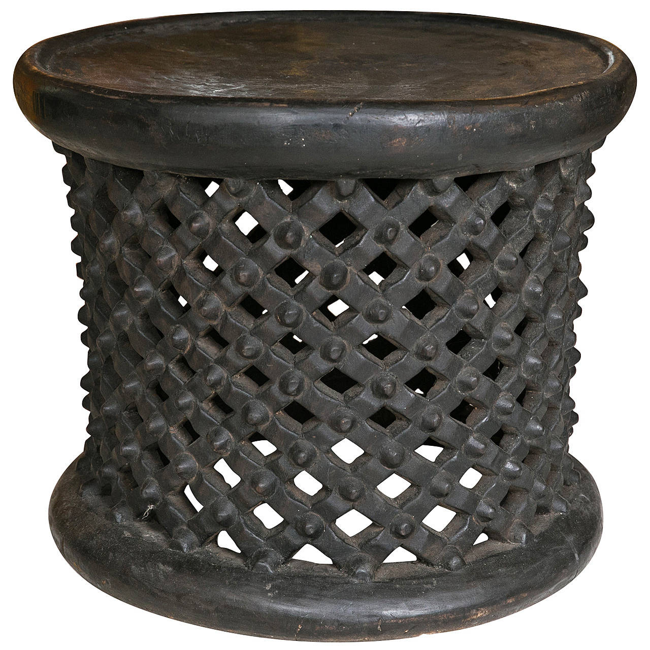 Cameroon drum side cocktail table at 1stdibs for Drum side table