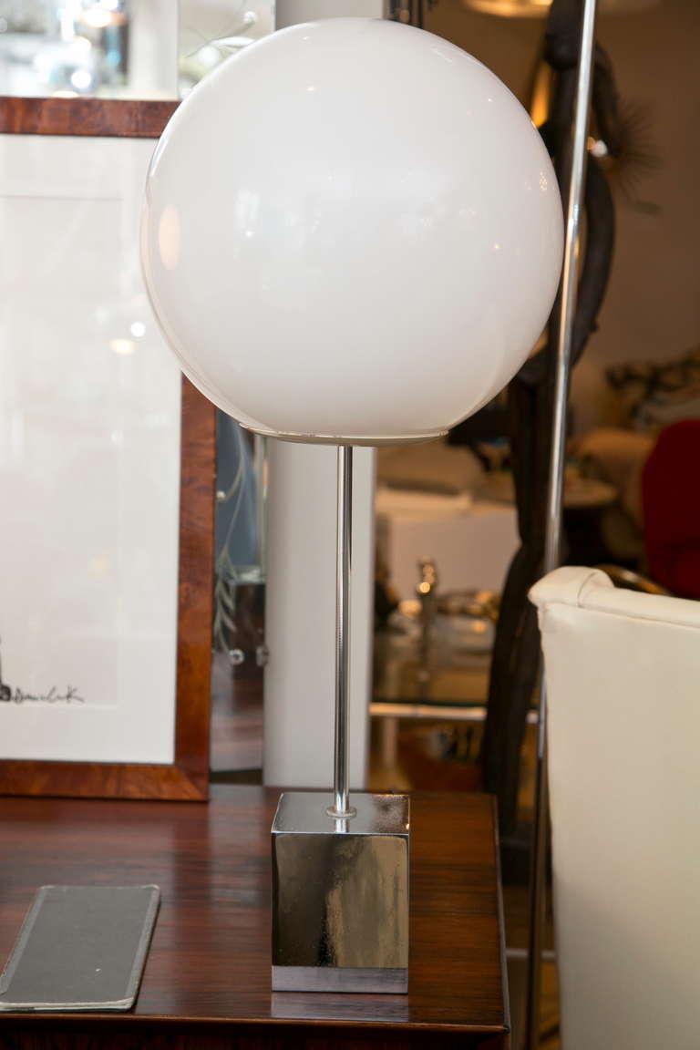 1960 S Globe Lamp Pair By Robert Sonneman At 1stdibs