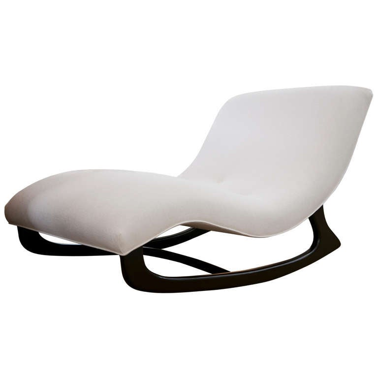 Mid century adrian pearsall rocking chaise at 1stdibs for Adrian pearsall rocking chaise