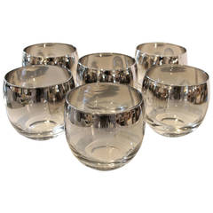 Set of Dorothy Thorpe Silver Fade Roly Poly Glasses