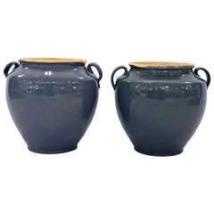 Antique French Confit Pots – Pair
