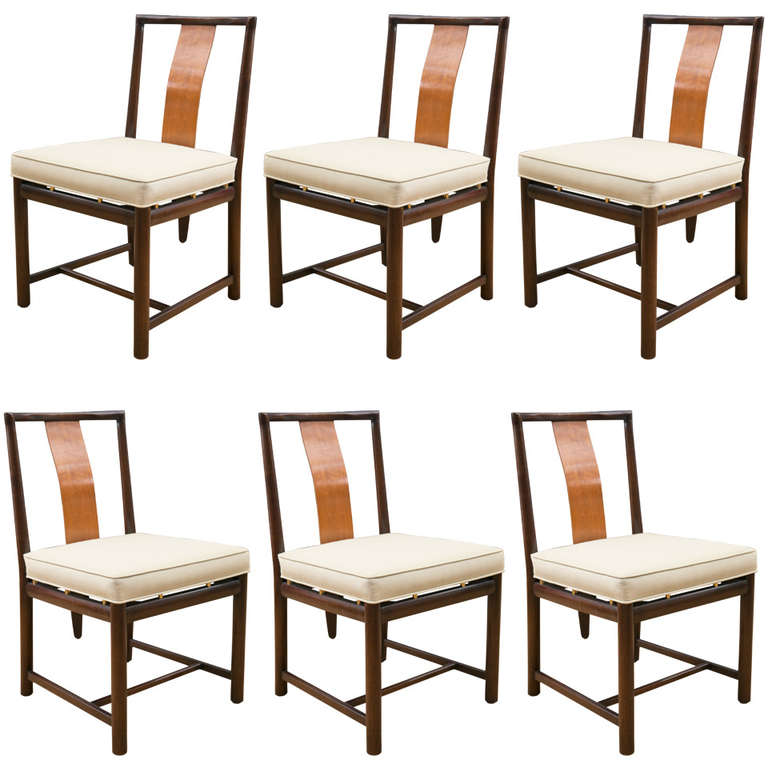 Mid Century Set Of Six Baker Dining Chairs At 1stdibs