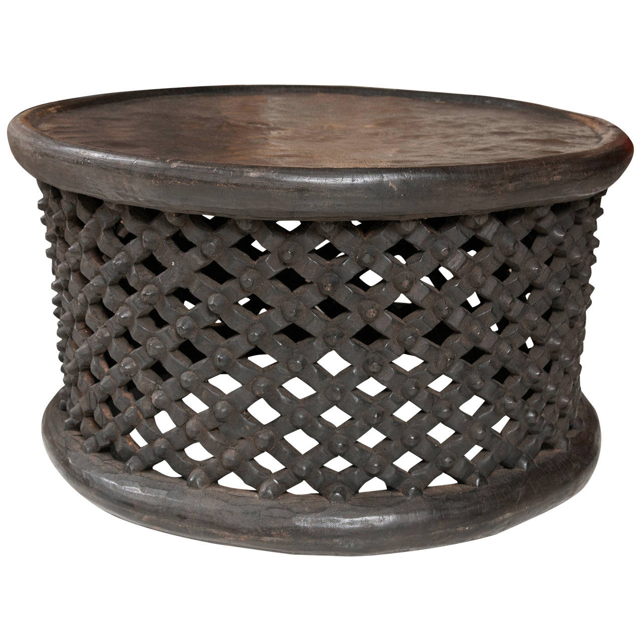 West African Cameroon Drum Table At 1stdibs