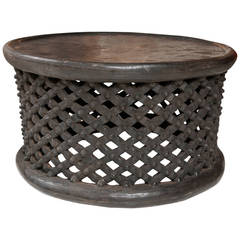 West African Cameroon Drum Table