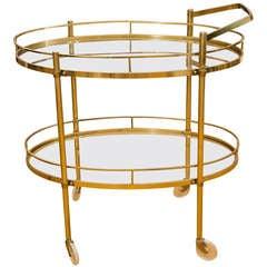 Vintage Oval Bar Cart