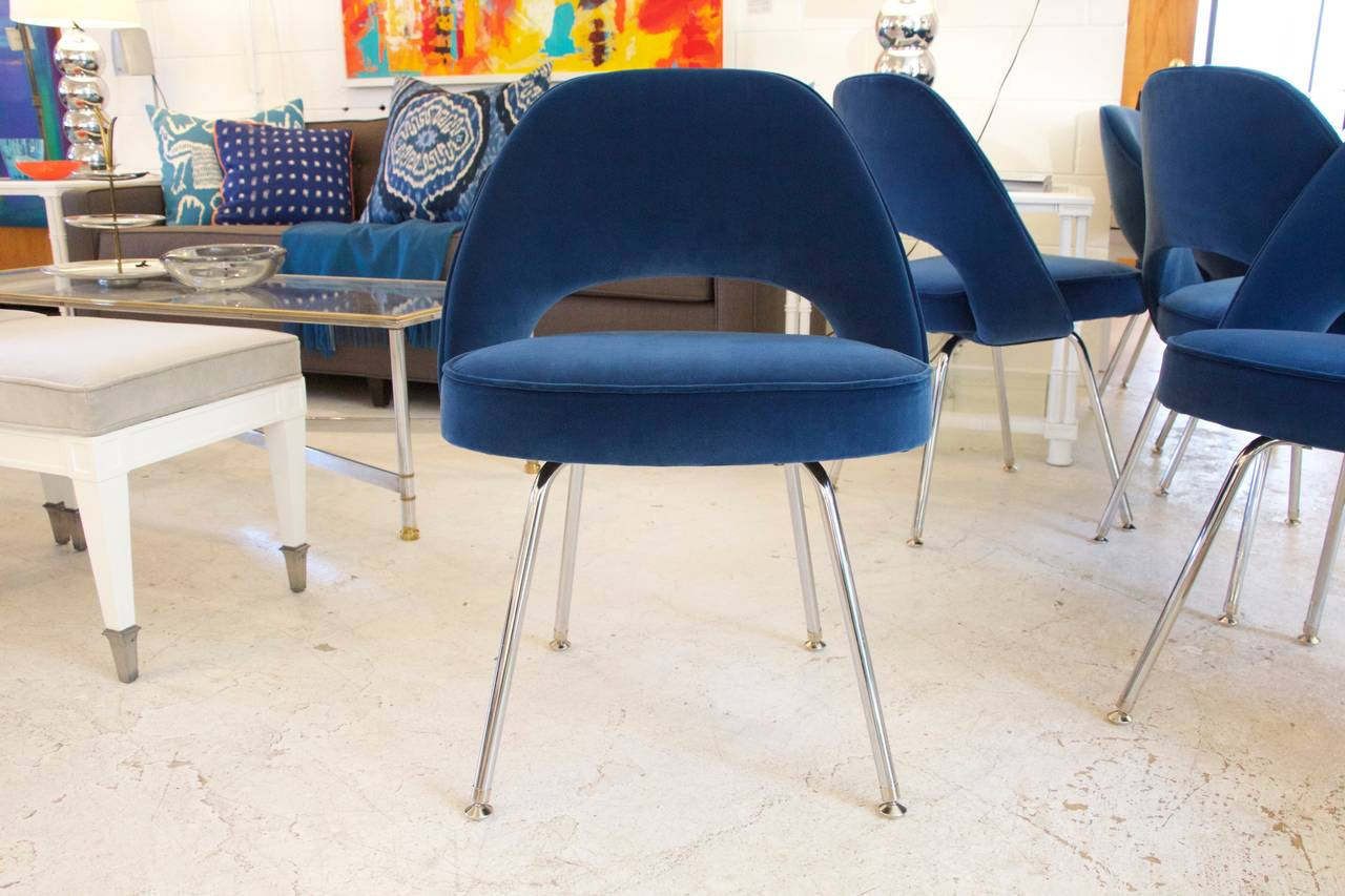 The Mid Century Clic Eero Saarinen Executive Side Chair Manufactured By Knoll Furniture And