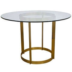 Vintage 1960's Brass Center Hall Table