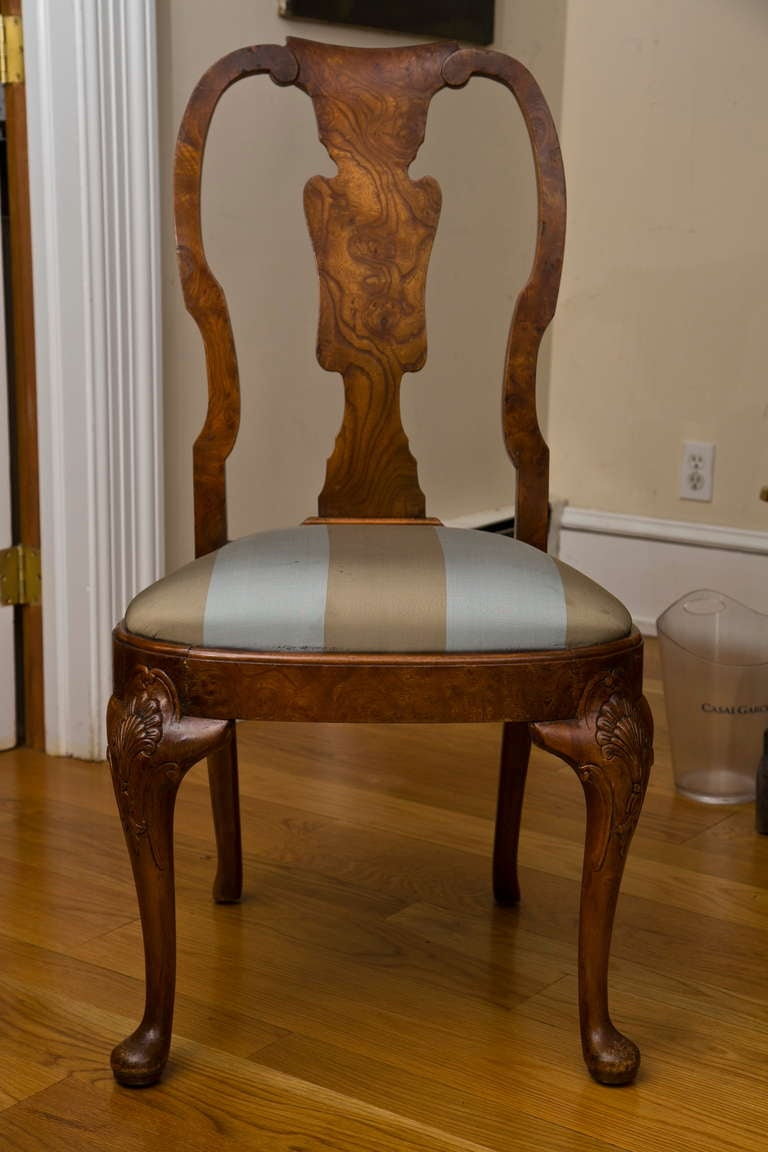 Antique Queen Anne Style Side Chair at 1stdibs