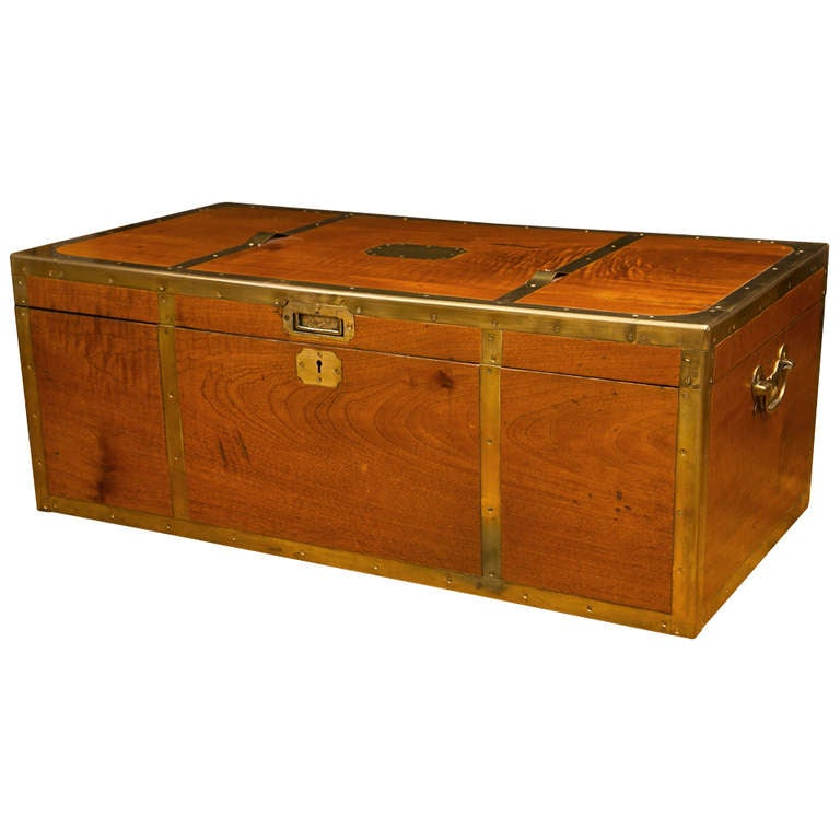 Antique campaign trunk at 1stdibs for L furniture more kelowna