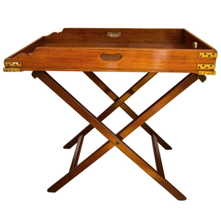 Great Antique Butleru0027s Tray Table 1