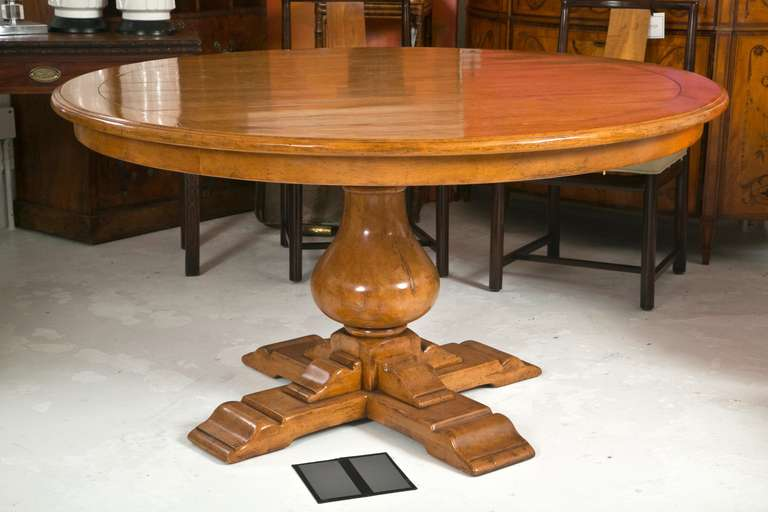 Attractive Pedestal Dining Table Attributed To Bausman Furniture 2