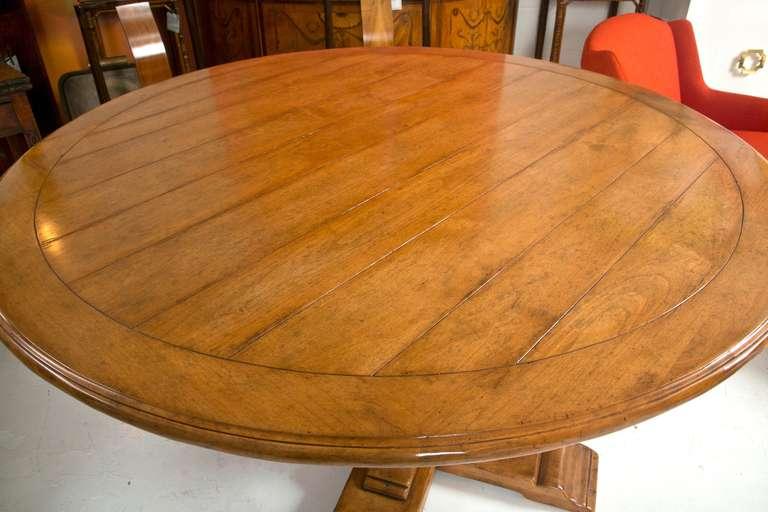Superb Pedestal Dining Table Attributed To Bausman Furniture 3