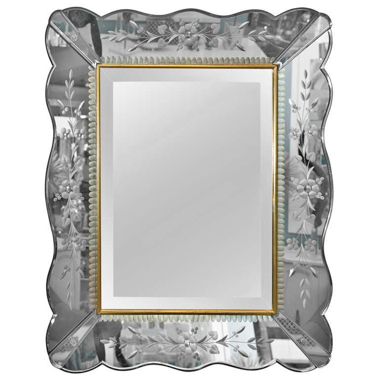 Vintage venetian style mirror at 1stdibs for Old style mirror