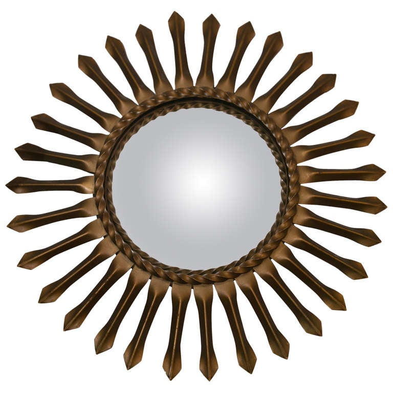 Vintage chaty of vallauris sunburst mirror at 1stdibs for Chaty vallauris miroir