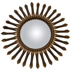 Vintage Chaty of Vallauris Sunburst Mirror