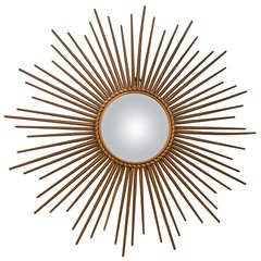 1950's Chaty of Vaullaris Sunburst Mirror