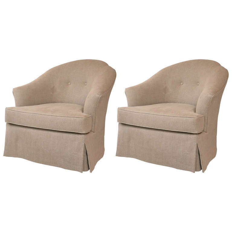 Mid Century Swivel Rocking Club Chair Pair At 1stdibs