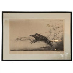 """Lithograph """"Speed"""" Signed Louis Icart"""