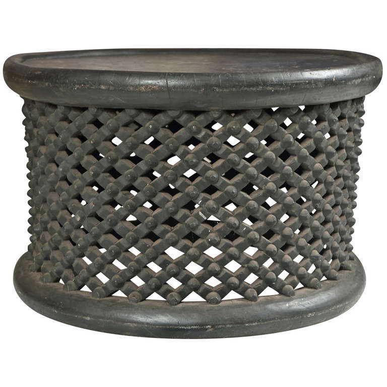 Chinese Drum Coffee Table: West African Cameroon Drum Table At 1stdibs