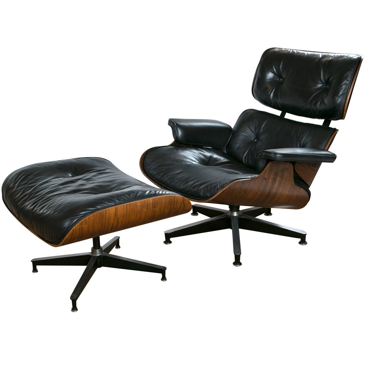 vintage eames lounge chair and ottoman at 1stdibs. Black Bedroom Furniture Sets. Home Design Ideas