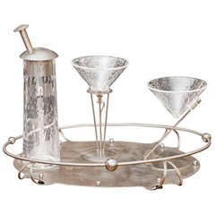 Memphis Style Four Piece Martini Set