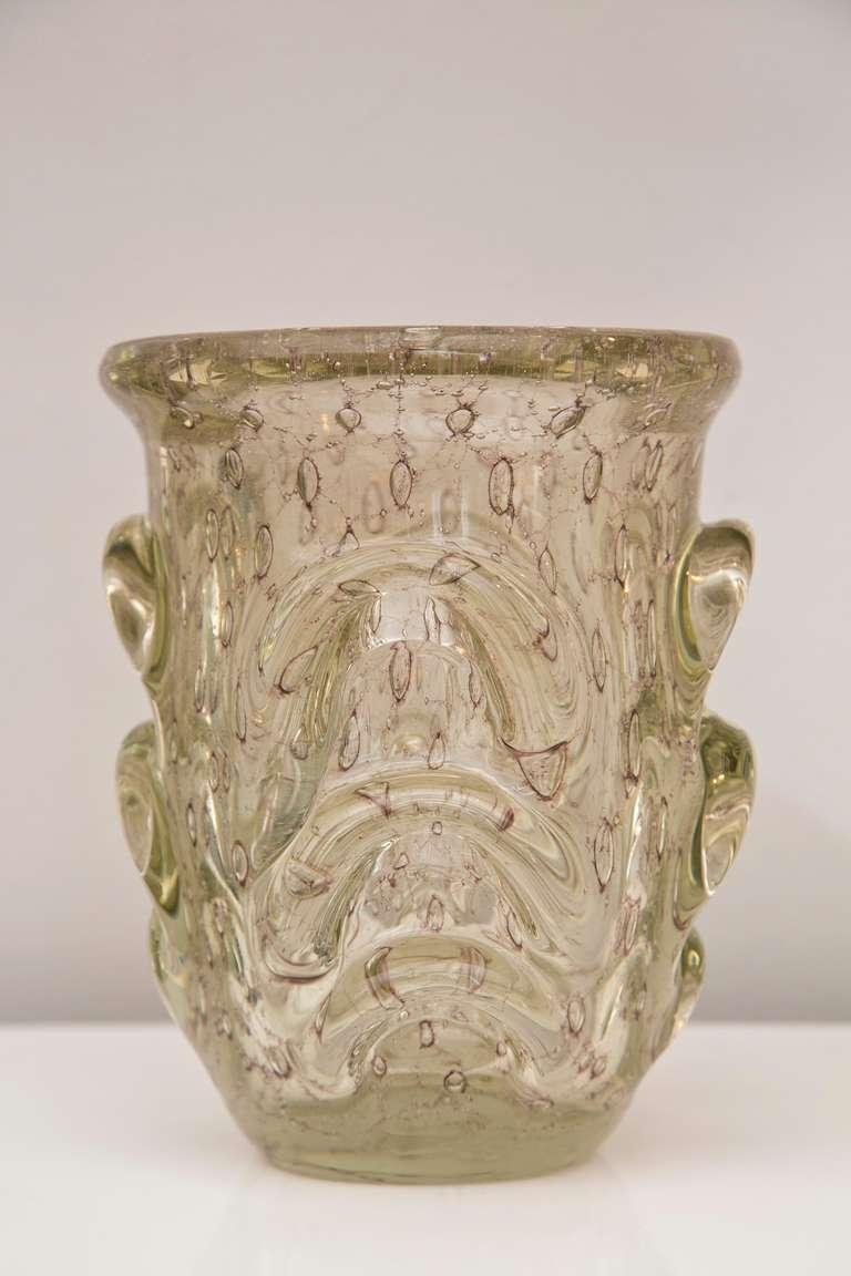 moderne 1930 39 s italian pulled glass vase at 1stdibs. Black Bedroom Furniture Sets. Home Design Ideas