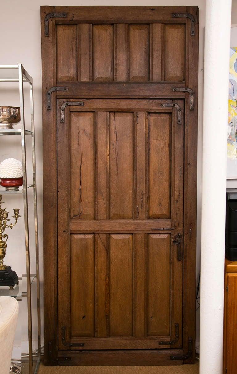 Vintage Iron Wood Door At 1stdibs