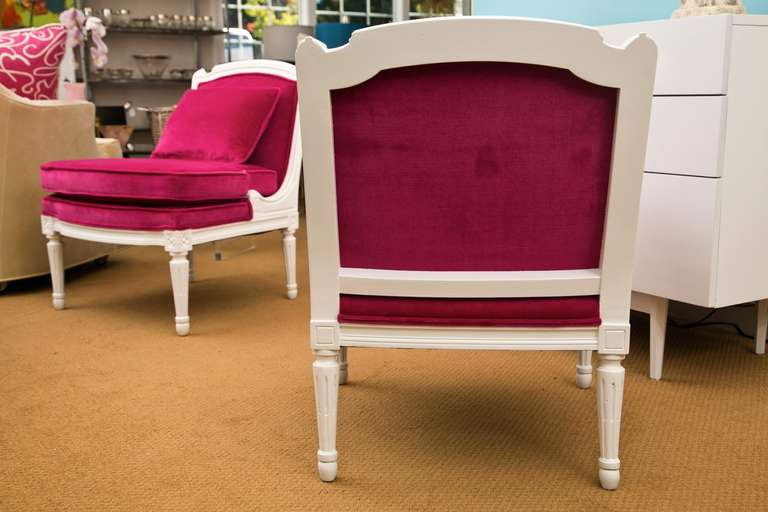 Plum Velvet Salon Chair 5