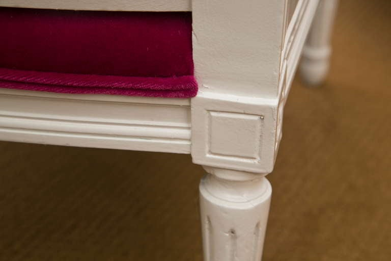 Plum Velvet Salon Chair 7