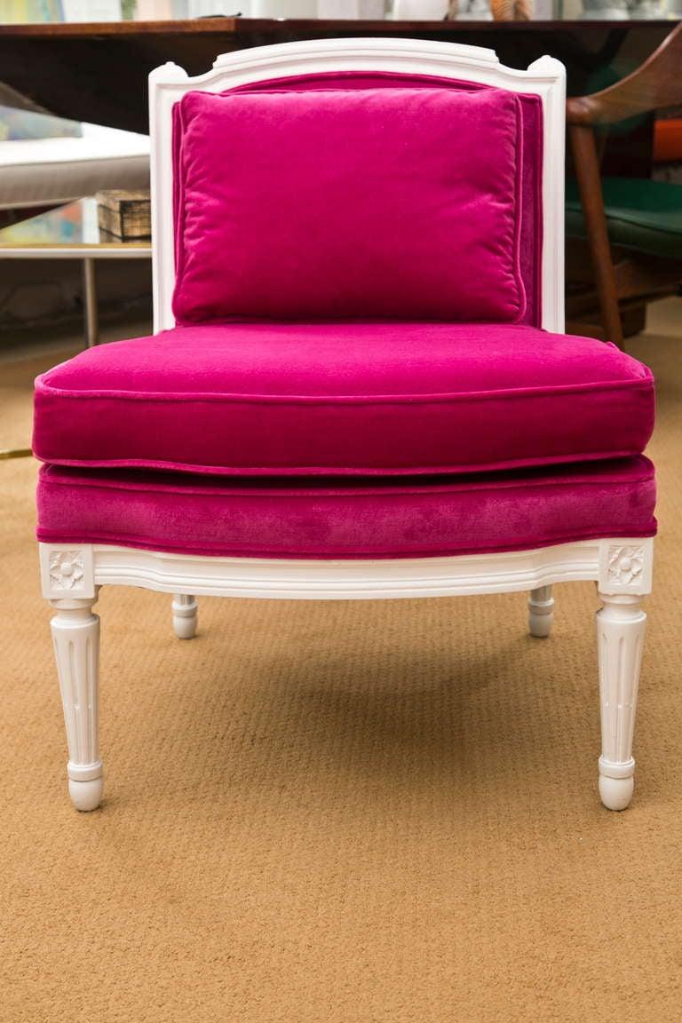 Plum Velvet Salon Chair 9