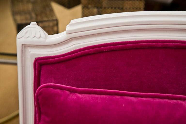 Plum Velvet Salon Chair 8