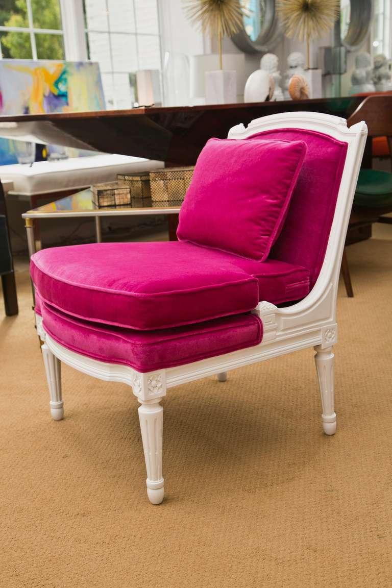 Plum Velvet Salon Chair 4