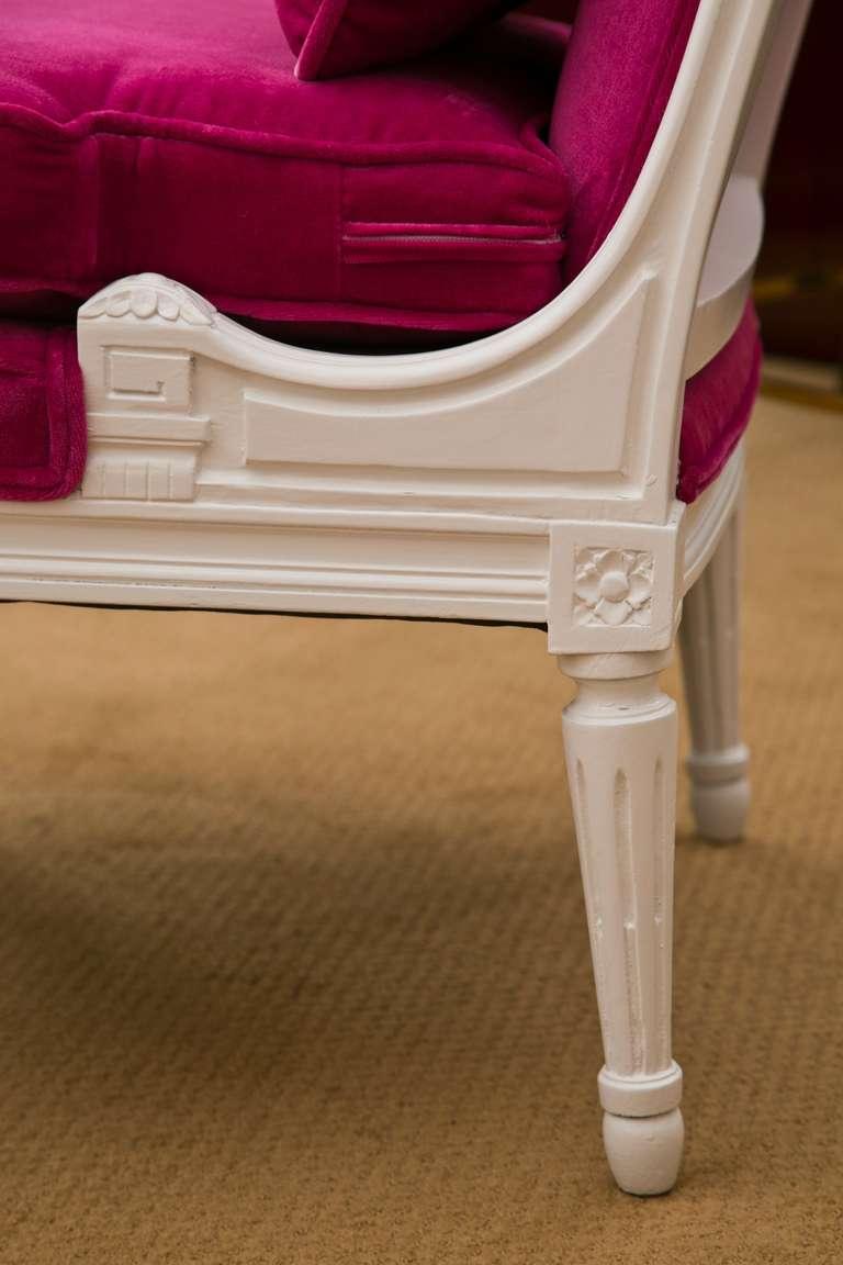 Plum Velvet Salon Chair 10