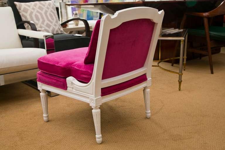 Plum Velvet Salon Chair 6