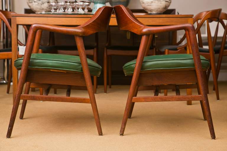Teak Gunlocke Mid Century Chairs Pair At 1stdibs