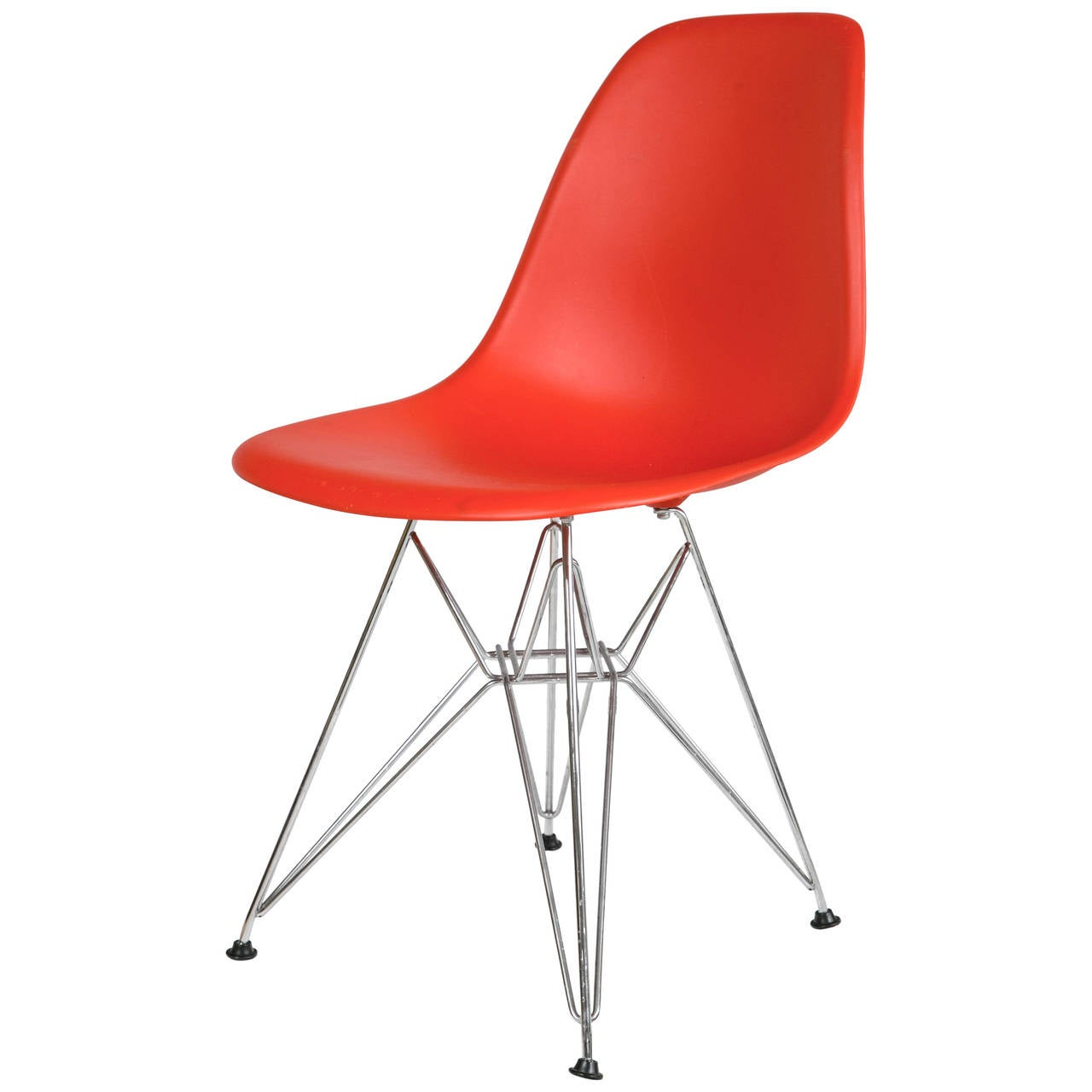 Molded Plastic Wire Base Side Chair by Charles and Ray