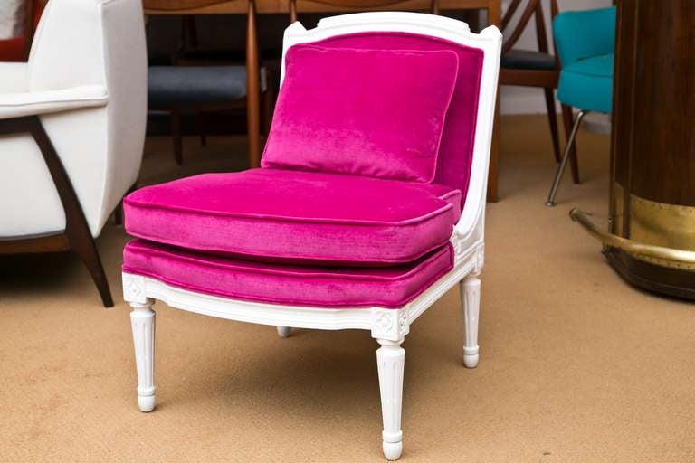 Plum Velvet Salon Chair 2
