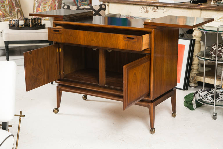 Mid Century Custom Flip Top Bar Cabinet At 1stdibs