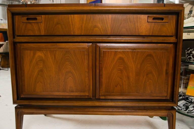 Mid-Century Custom Flip-Top Bar Cabinet at 1stdibs