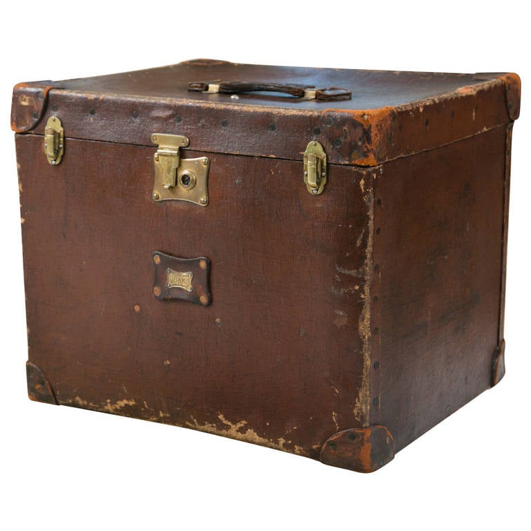Leather Steamer Trunk 121